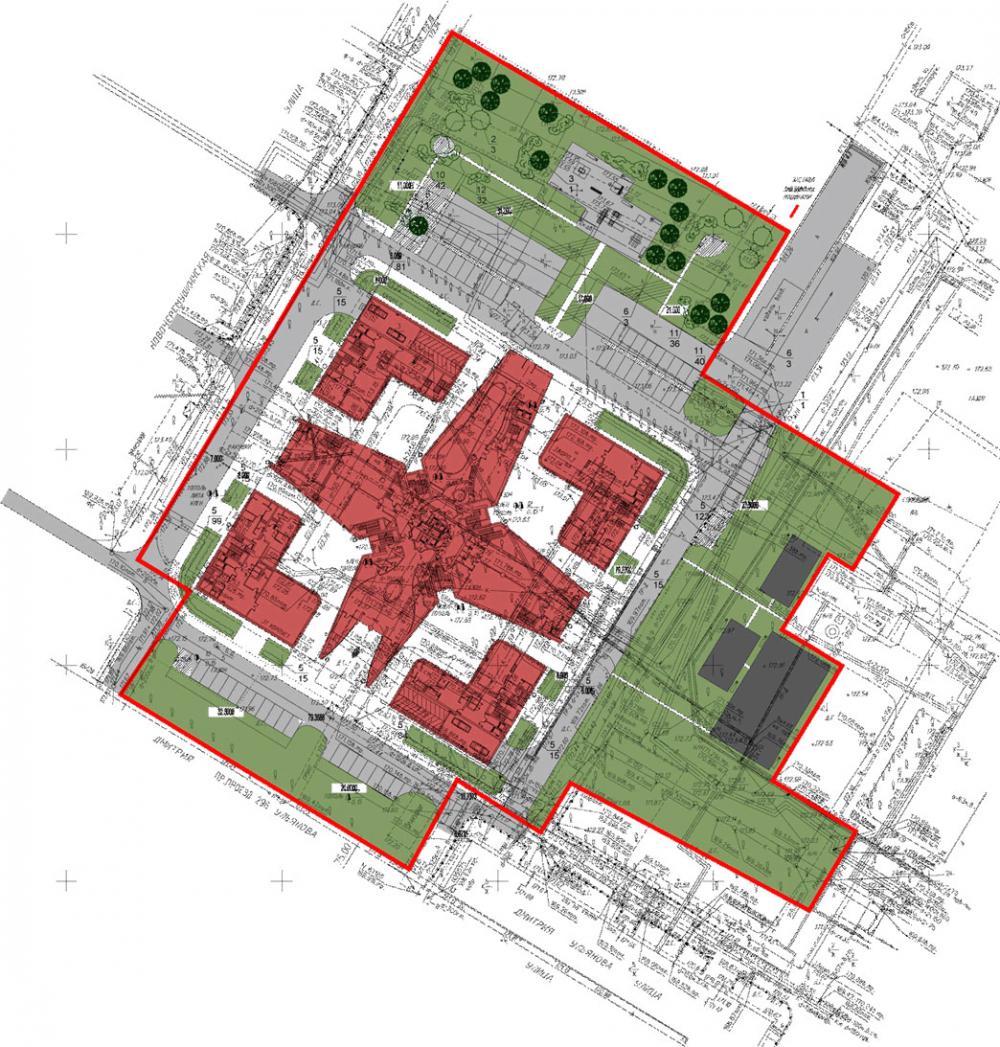 Разработка проекта планировки территории многоэтажного комплекса. г. Москва