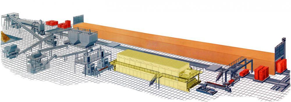 Завод по производству керамического кирпича полусухого прессования
