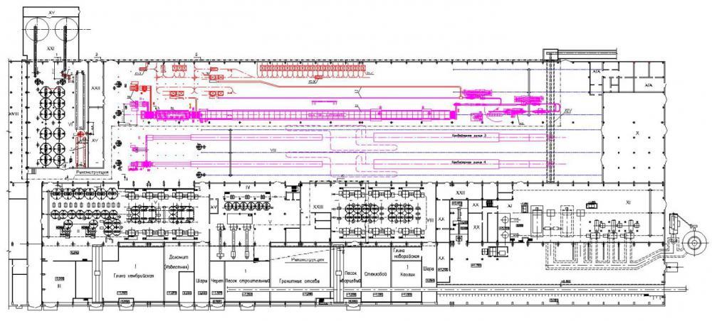 Проект завод по производству керамической плитки для внутренней облицовки стен