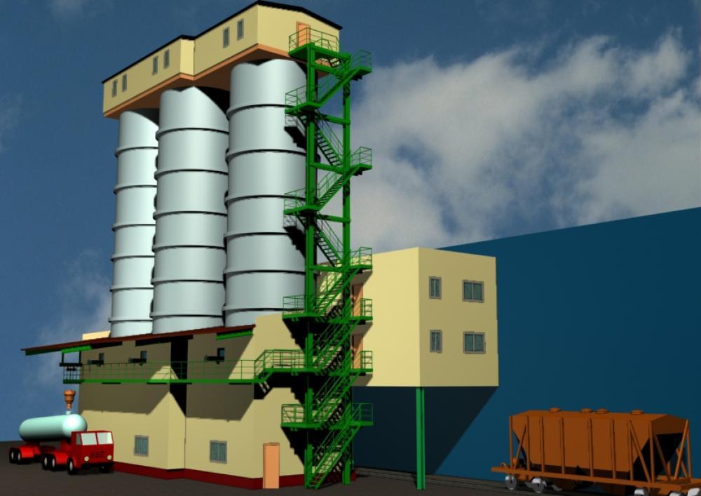 Проектирование промышленных зданий  для склада цемента