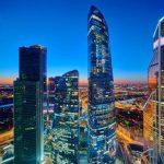 Мачта панорамных лифтов с мостами переходами